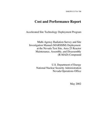 Primary view of object titled 'Cost and Performance Report Accelerated Site Technology Deployment Program'.