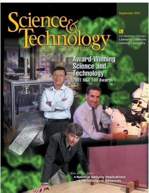 Primary view of object titled 'Science and Technology Review September 2001'.
