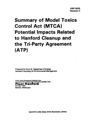 Primary view of object titled 'Summary of Model Toxics Control Act (MTCA) Potential Impacts Related to Hanford Cleanup and the Tri-Party Agreement (TPA)'.