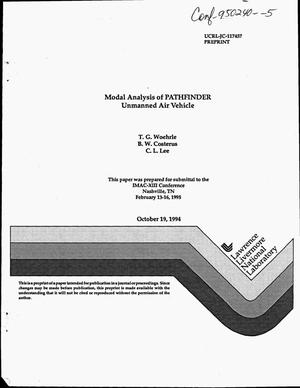 Primary view of object titled 'Modal analysis of PATHFINDER unmanned air vehicle'.