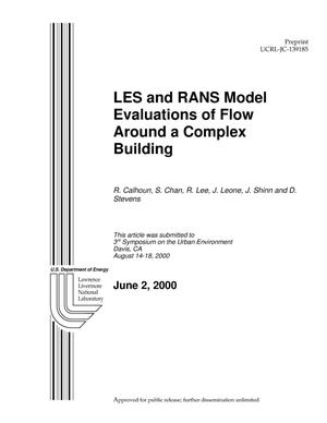 Primary view of object titled 'LES and RANS Model Evaluations of Flow Around a Complex Building'.