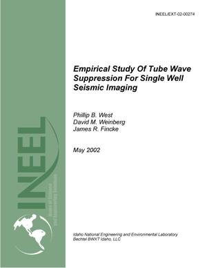 Primary view of object titled 'Empirical Study Of Tube Wave Suppression For Single Well Seismic Imaging'.