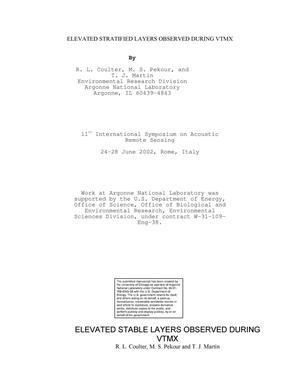 Primary view of object titled 'Elevated stratified layers observed during VTMX.'.