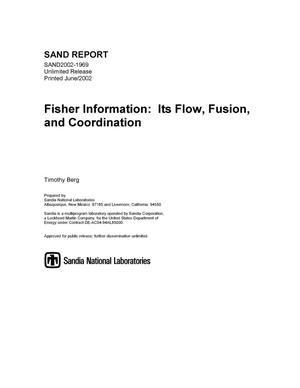 Primary view of object titled 'Fisher Information: Its Flow, Fusion, and Coordination'.
