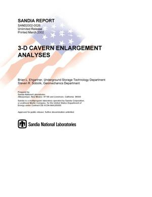Primary view of object titled '3-D Cavern Enlargement Analyses'.
