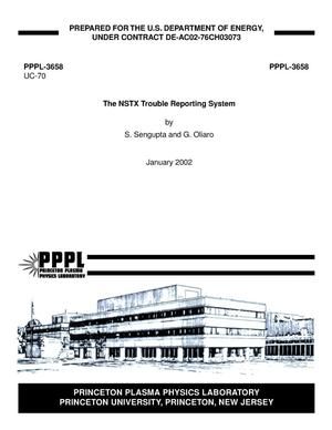 Primary view of object titled 'The NSTX Trouble Reporting System'.