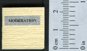Primary view of object titled 'Moderation: a discussion in verse on it's application to a book.'.