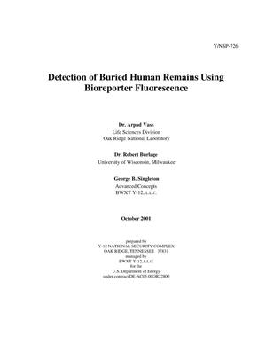 Primary view of object titled 'Detection of Buried Human Remains Using Bioreporter Fluorescence'.
