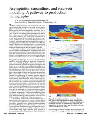 Primary view of object titled 'Asymptotics, streamlines, and reservoir modeling: a pathway to production tomography'.