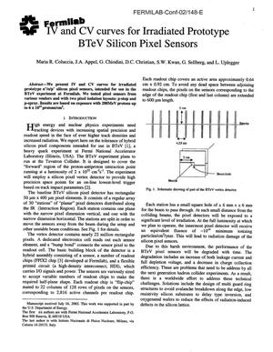 Primary view of object titled 'IV and CV curves for irradiated prototype BTeV silicon pixel sensors'.
