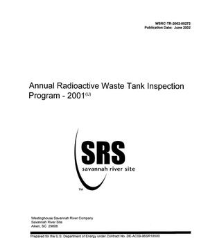Primary view of object titled 'Annual Radioactive Waste Tank Inspection Program 2001'.
