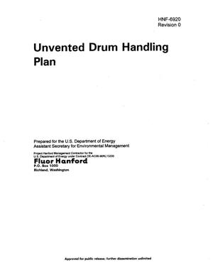 Primary view of object titled 'Unvented Drum Handling Plan'.