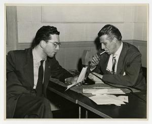 Primary view of object titled 'Willis Conover interviews Stan Kenton (3)'.
