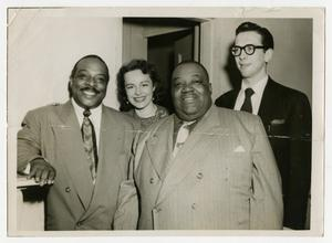 Primary view of object titled 'Count Basie with Willis Conover, others'.