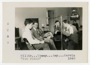 Primary view of object titled 'Willis Conover with co-workers at WTBO'.