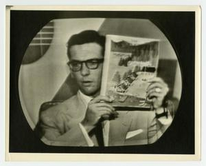 Primary view of object titled 'Willis Conover on television'.