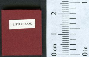 Primary view of object titled 'Little book.'.