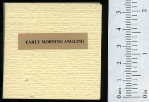 Primary view of object titled 'Early morning angling : or, bass fishing in SE Ontario.'.