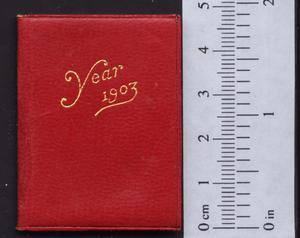 Petite calendar and stamp case 1903.