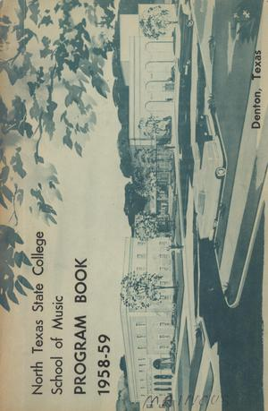 Primary view of object titled 'School of Music Program Book 1958-1959'.