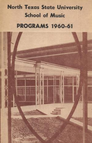 School of Music Program Book 1960-1961