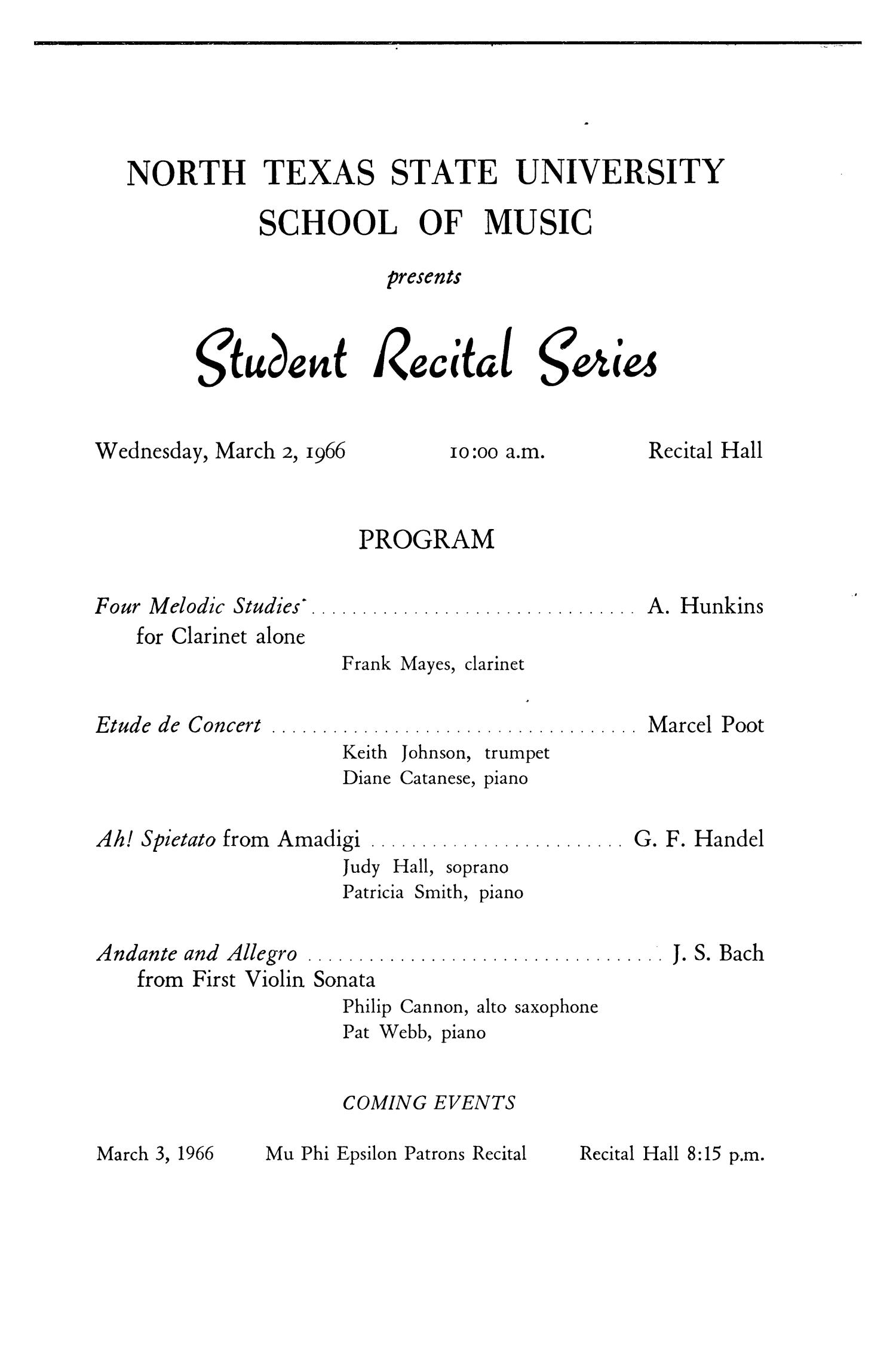 School of Music Program Book 1965-1966                                                                                                      129