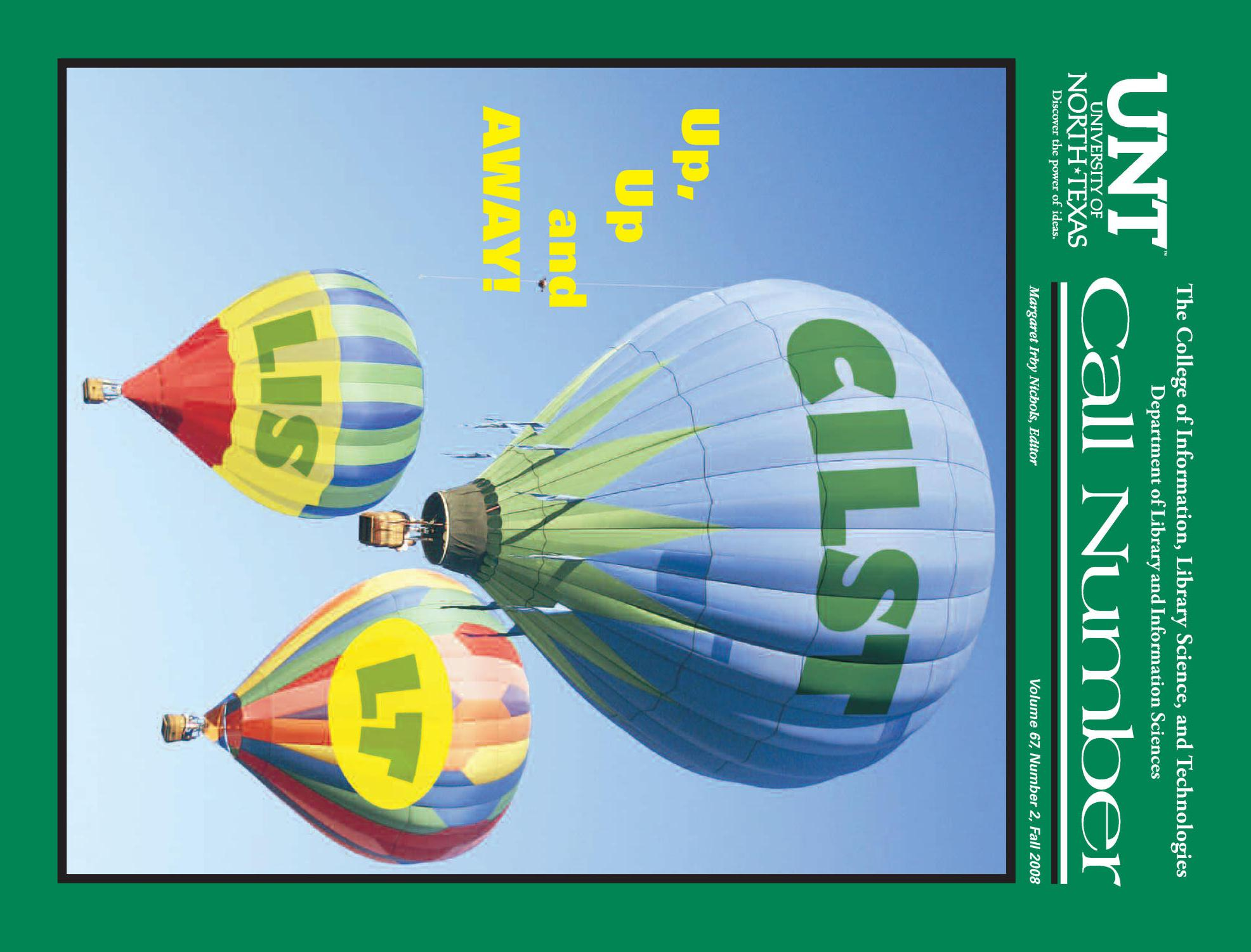 Call Number, Volume 67, Number 2, Fall 2008                                                                                                      Front Cover