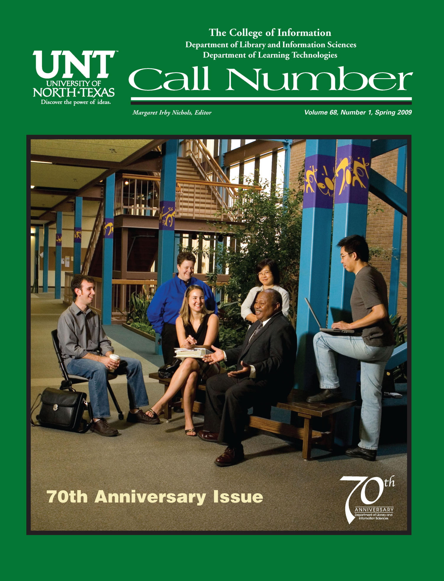 Call Number, Volume 68, Number 1, Spring 2009                                                                                                      Front Cover
