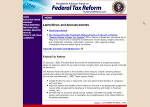 Primary view of object titled 'President's Advisory Panel on Federal Tax Reform'.