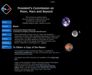 Primary view of object titled 'President's Commission on Moon, Mars and Beyond'.
