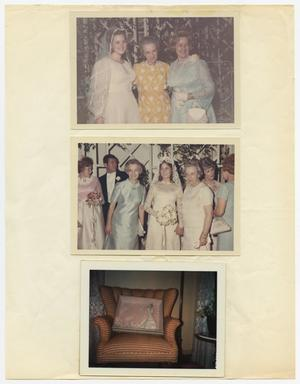 Primary view of object titled '[Three photographs relating to weddings]'.
