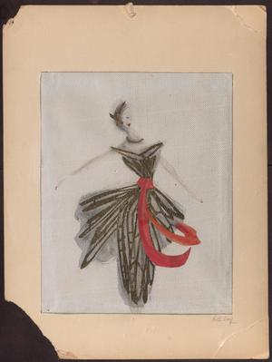 Primary view of object titled '[Fashion Design]'.