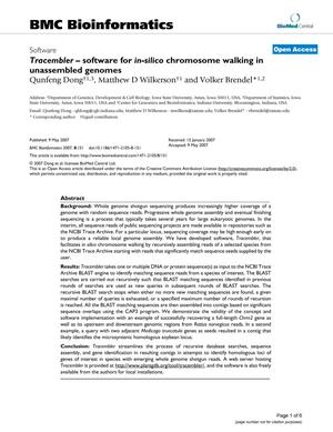 Primary view of Tracembler - software for in-silico chromosome walking in unassembled genomes