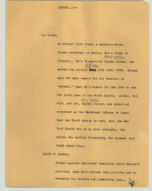 Primary view of object titled '[News Script: Aleman]'.