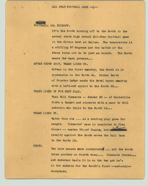 Primary view of object titled '[News Script: All star football game]'.
