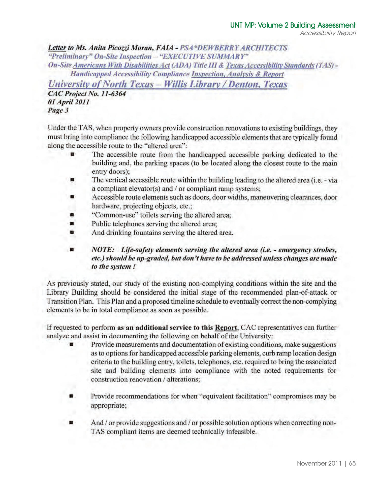 University of North Texas Libraries Master Plan, Volume 2