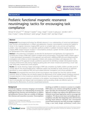 Pediatric functional magnetic resonance neuroimaging: tactics for encouraging task compliance