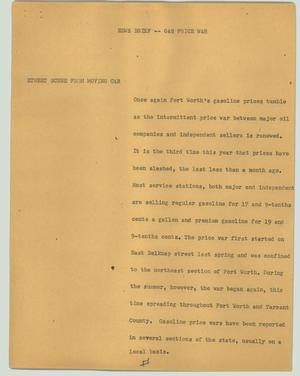 Primary view of object titled '[News Script: Gas price war]'.