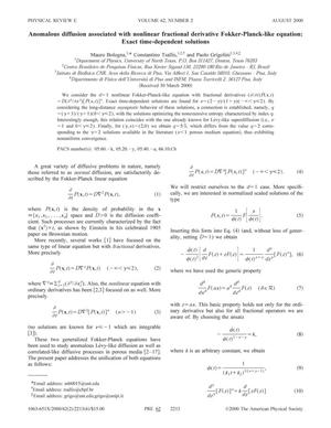 Anomalous diffusion associated with nonlinear fractional derivative Fokker-Planck-like equation: Exact time-dependent solutions