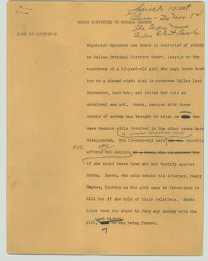Primary view of object titled '[News Script: Bonds convicted on morals charge]'.