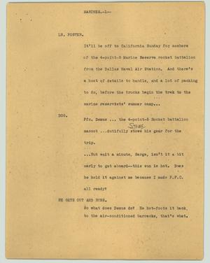 Primary view of object titled '[News Script: Marines]'.