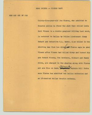 Primary view of object titled '[News Script: Flores back]'.