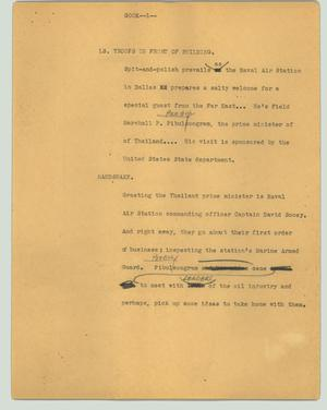 Primary view of object titled '[News Script: Gook]'.
