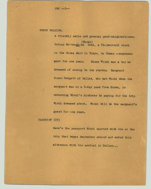 Primary view of object titled '[News Script: Jap]'.