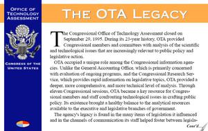 Primary view of object titled 'Office of Technology Assessment (OTA)'.