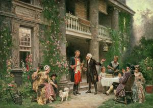 Primary view of object titled 'George Washington at Bartram's Garden'.