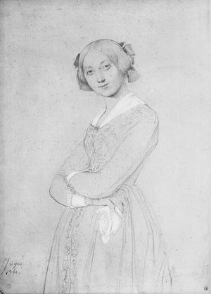 Primary view of object titled 'Portrait of Louise d'Haussonville'.