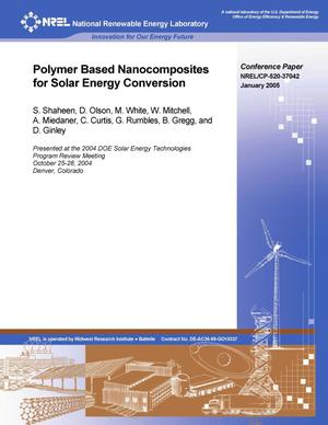 Primary view of object titled 'Polymer Based Nanocomposites for Solar Energy Conversion'.