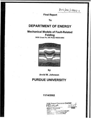 Primary view of object titled 'Mechanical Models of Fault-Related Folding'.