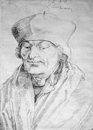 Primary view of object titled 'Portrait of Desiderius Erasmus (1469-1536)'.